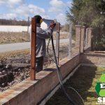 piaskowanie-konstrukcja-stalowa-słupki ogrodzeniowe