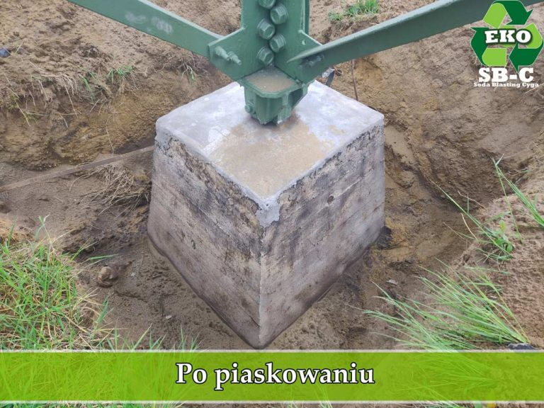 Piaskowanie betonowych fundamentów