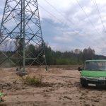 Piaskowanie słupów energetycznych
